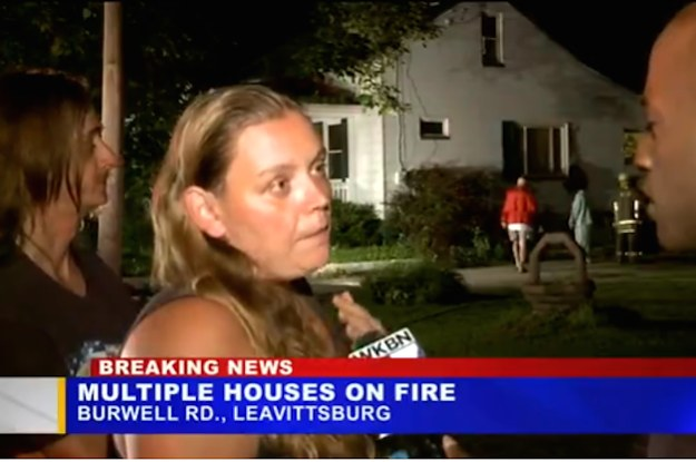 A Local News Report Got Weird After A Woman Said Her Cousin Set Her House On Fire Because He Couldn't Date Her