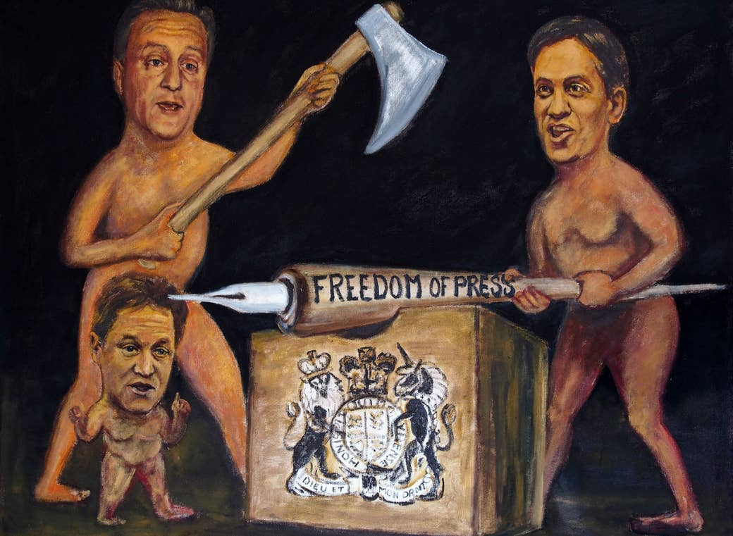 Angela Merkel Nude this artist chased david cameron with a naked painting of