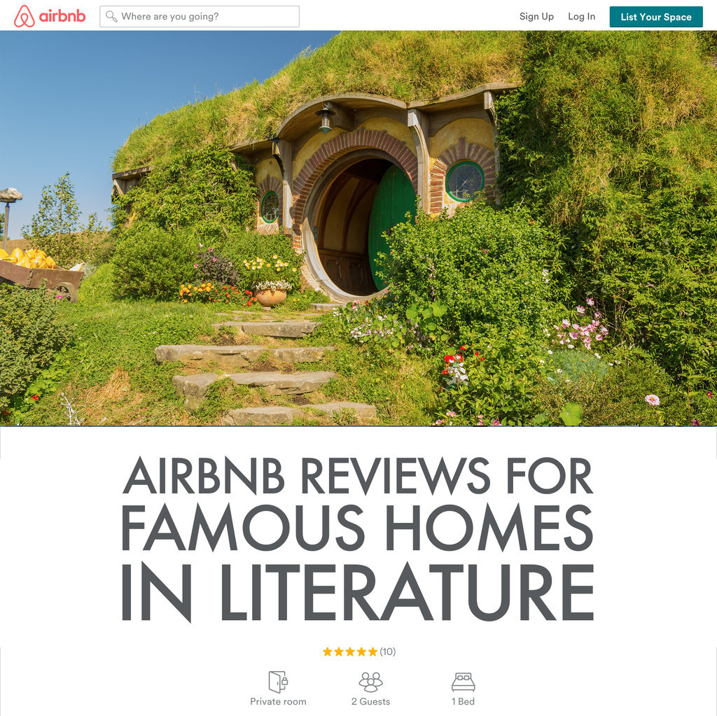 Airbnb Reviews For Famous Homes In Literature