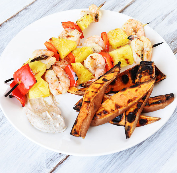 A quick grilled dinner that's perfect for a weeknight. Recipe here.