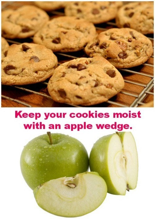 And if you're storing them for a while, swap out the wedge for a new one. Cookie crisis averted.