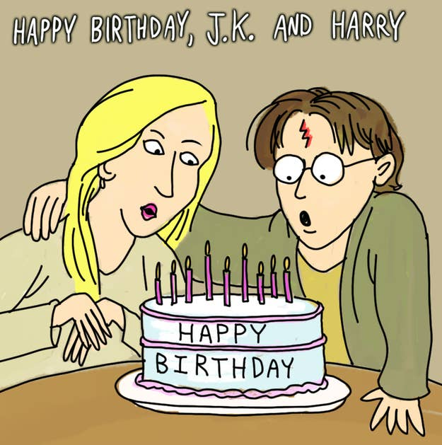 Happy JK Rowling And Harry Potter Birthday Day