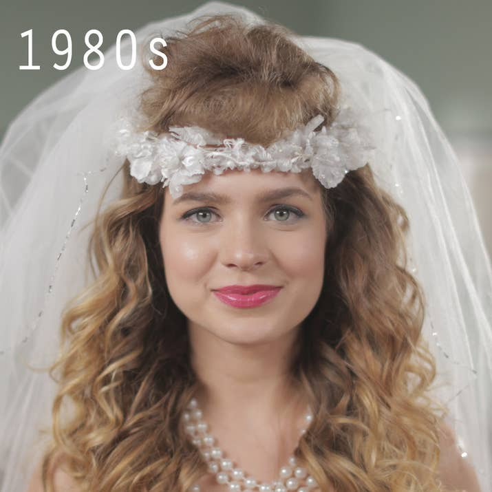 Over 50 years of wedding hairstyles in two minutes the 90s brought along new hair and some added attitude junglespirit Gallery