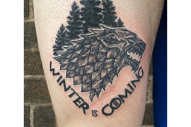 40 game of thrones tattoos that george r r martin can 39 t kill off. Black Bedroom Furniture Sets. Home Design Ideas