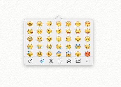 There's a hidden menu that lets you type emoji on a desktop computer.