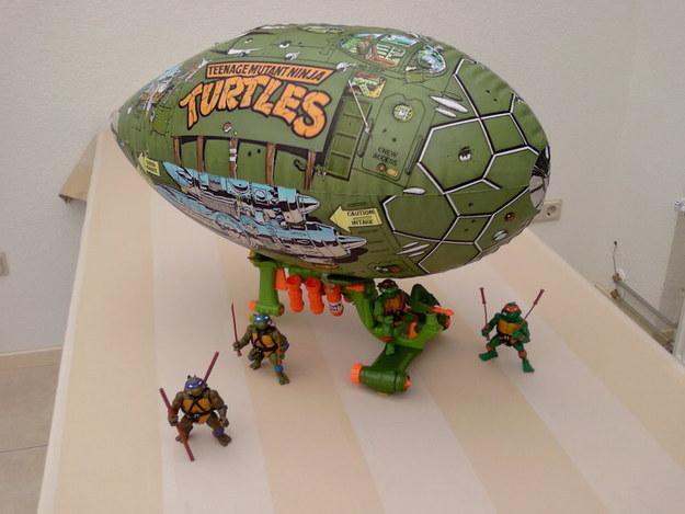 El zepelín de las Tortugas Ninja.