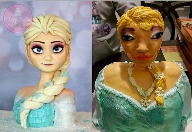 Heres The Real Story Behind This Terrible Elsa Cake Everyone Was