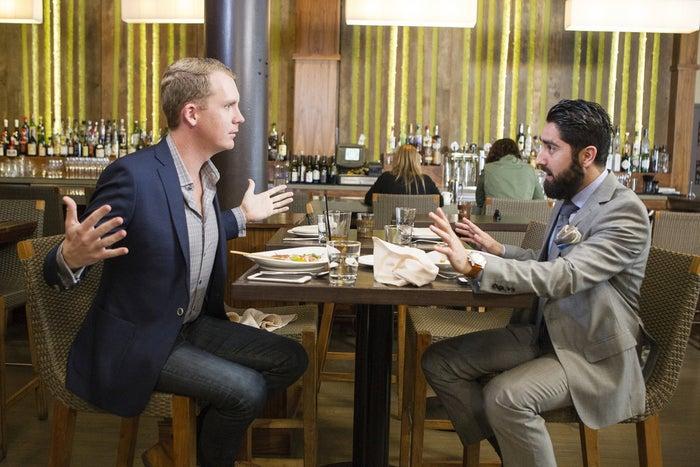 Million Dollar Listing San Francisco's Andrew Greenwell (left) and Roh Habibi.
