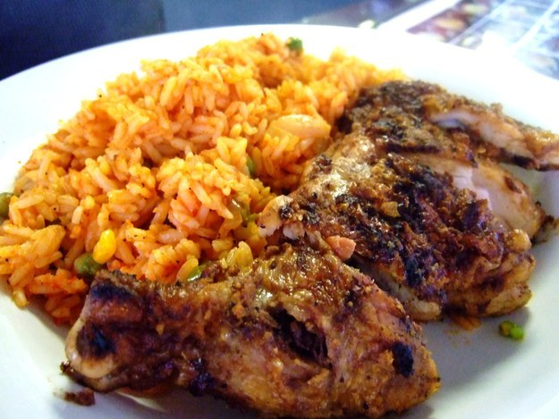Image result for jollof rice and jerk chicken