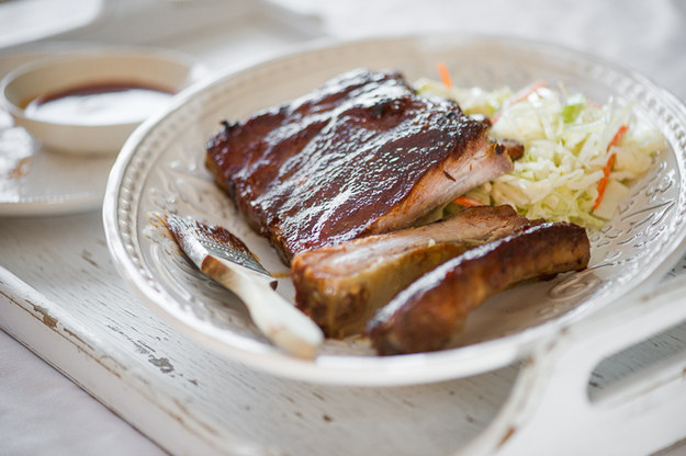 Bourbon-Maple Glazed Pork Ribs
