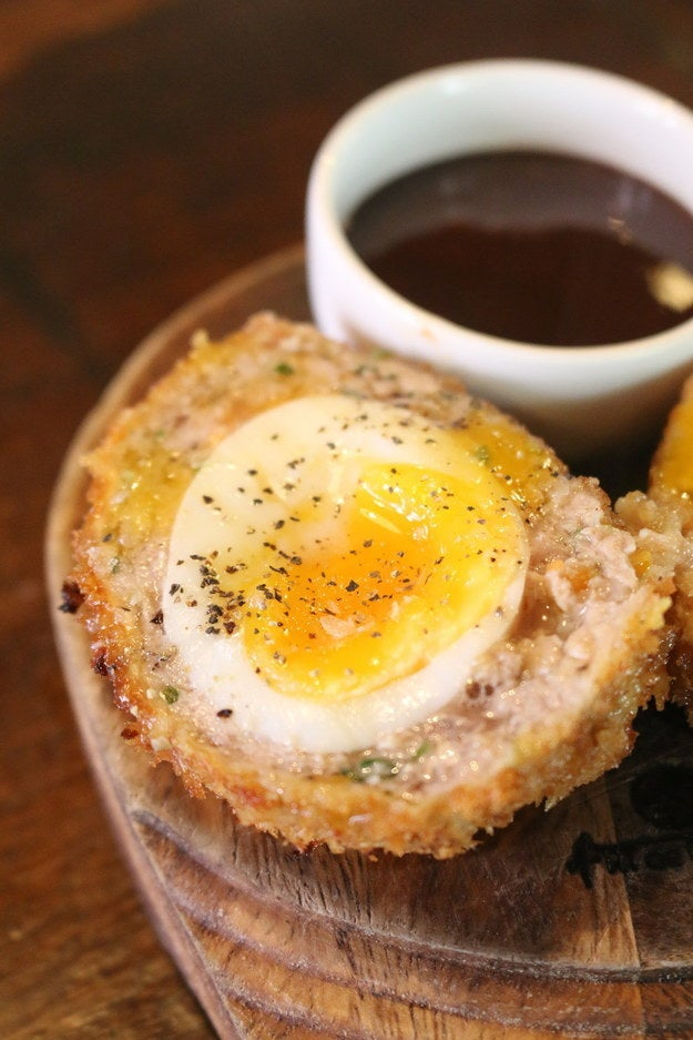 This snack is perfect for a three pint hangover – nothing's seriously wrong with you, apart from the consistent craving for something salty and a quiet nap. Head out to the Ship and sit by the Thames. Order a restorative shandy and one of their signature Scotch eggs, served with brown sauce. All will be right with the world again.If you're feeling really ambitious, learn how to make the Ship's Scotch egg here.