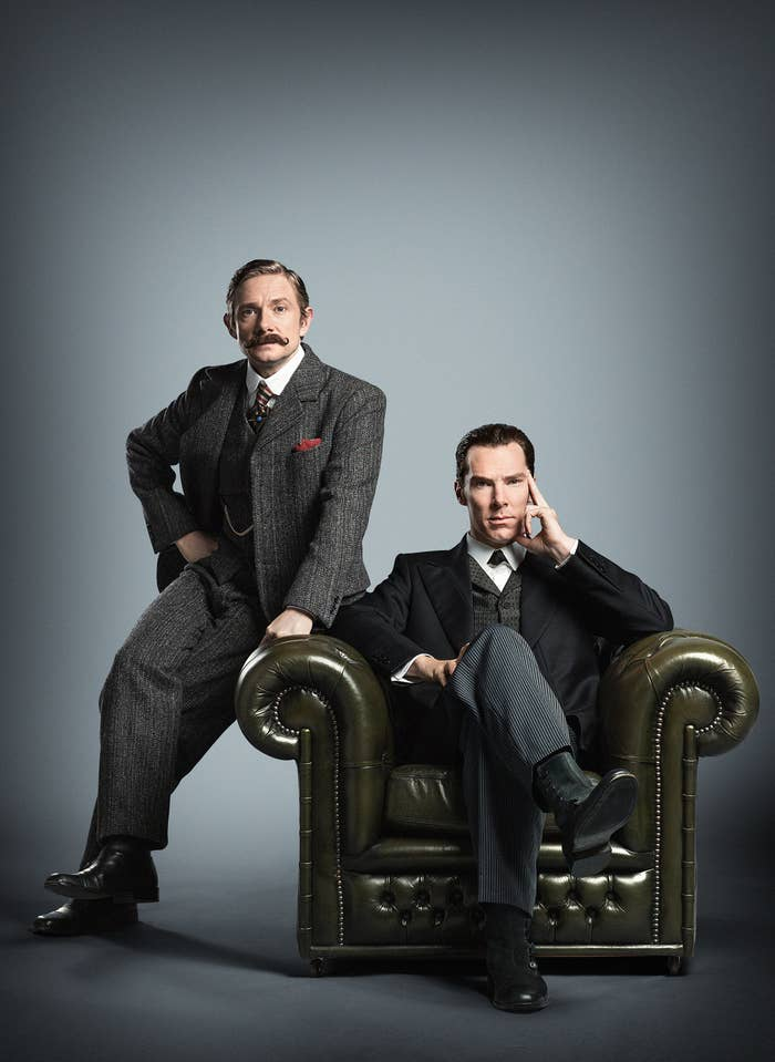 That's Martin Freeman as Dr Watson and Benedict Cumberbatch as Sherlock there, in case you haven't happened to watch any of the episodes so far.