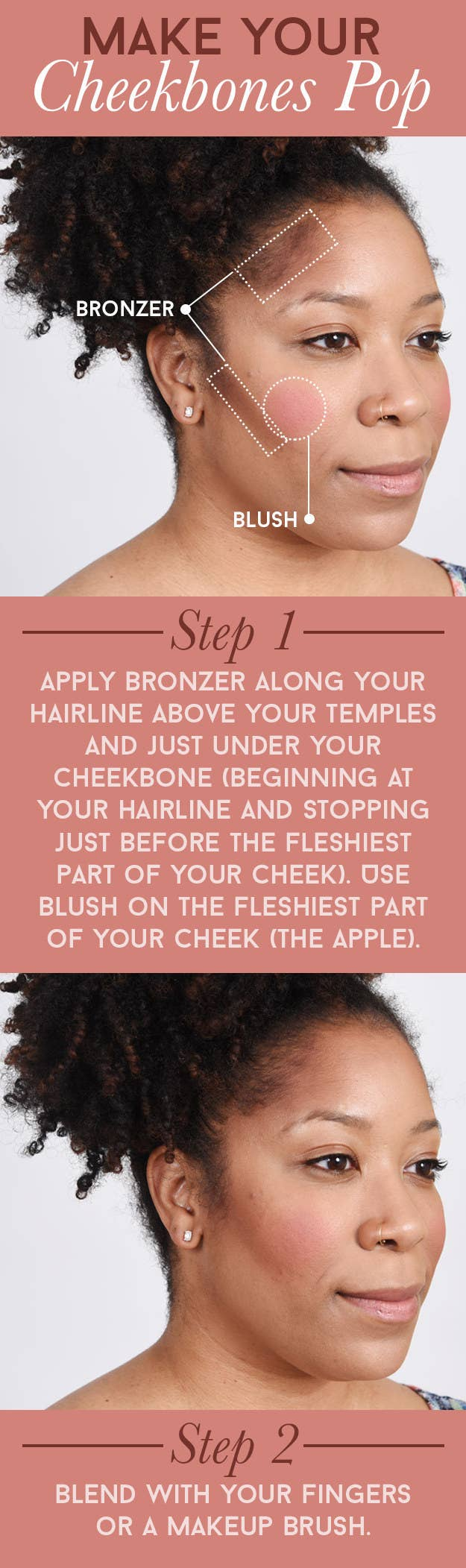 Blush Brightens Up The Face For A Naturally Flushed Look Bronzer Can Help  To Define