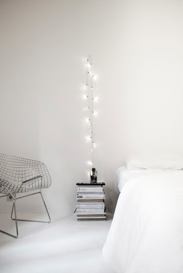 Or hang a strand by itself for a minimalist ~arty~ vibe.