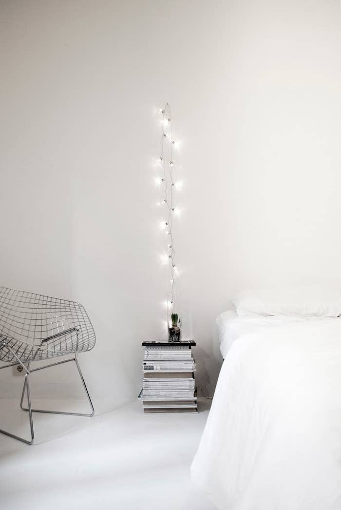 how to hang christmas lights in your bedroom with tape