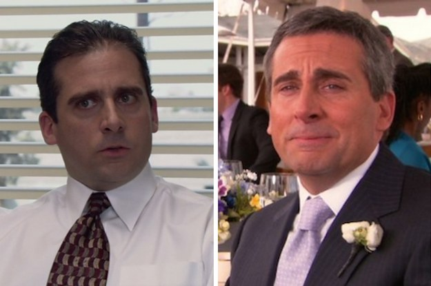 the cast of the office in their first episode vs their last episode. Black Bedroom Furniture Sets. Home Design Ideas