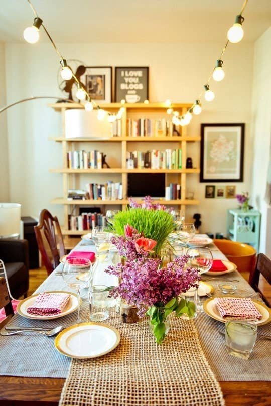 Another Trick Forgo A Pendant Light Or Chandelier Over The Dining Table And Just Go Full On String Lights