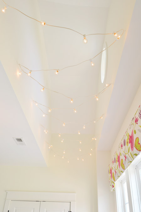 You can also zig-zag them down a hallway that needs just a little more overhead light.