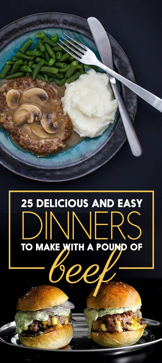 25 delicious and easy dinners to make with 1 pound of beef share on facebook share forumfinder Gallery