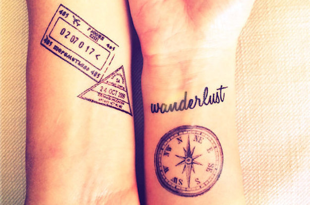 23 temporary tattoos that will awaken your wanderlust