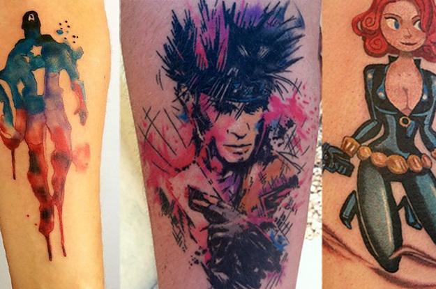 31 tatuajes de marvel que te har n querer ser un superh roe for Marvel sleeve tattoo black and white