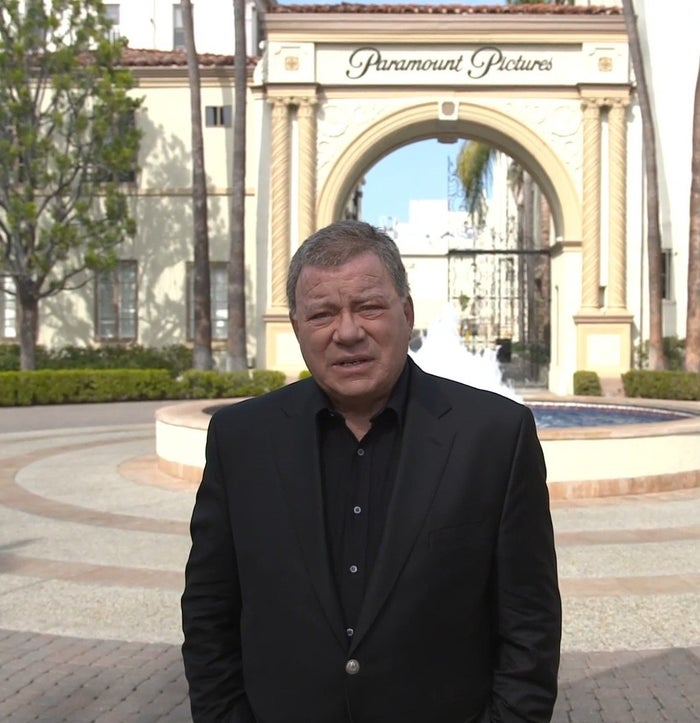 Shatner on the Paramount Pictures studio lot in Chaos on the Bridge.