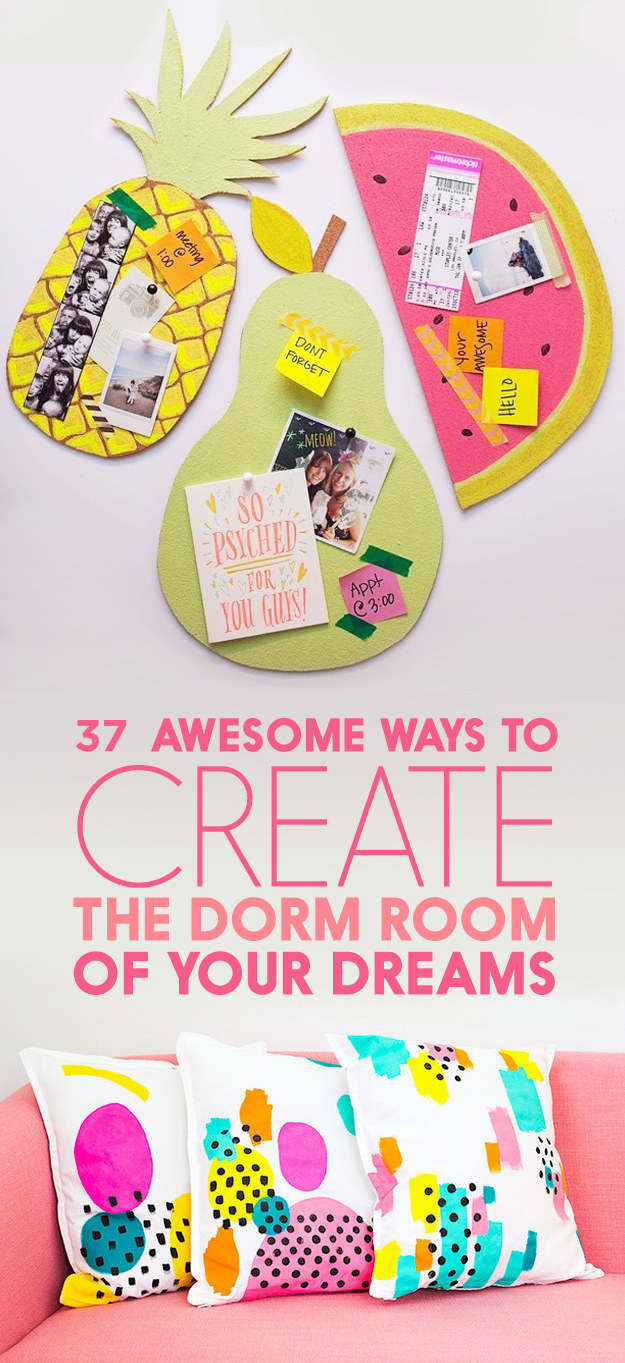 Decorating Ideas > 37 Ways To Have A Dorm Room The Whole Floor Will Be Jealous Of ~ 070555_Dorm Room Diy Buzzfeed