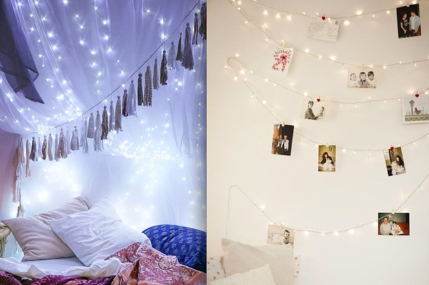 19 super cozy ways to use string lights in your home - Bedroom String Lights