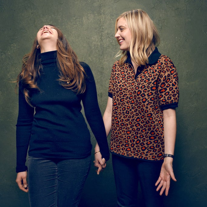 Kirke and Gerwig at the Sundance Film Festival in January.