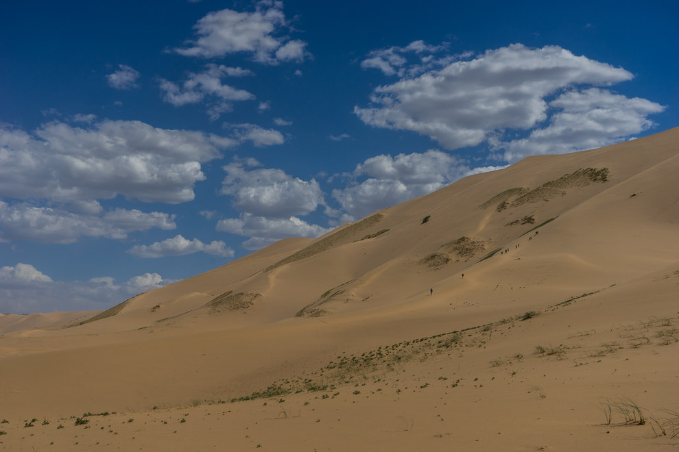 There's never anywhere to sit on the sand dunes.