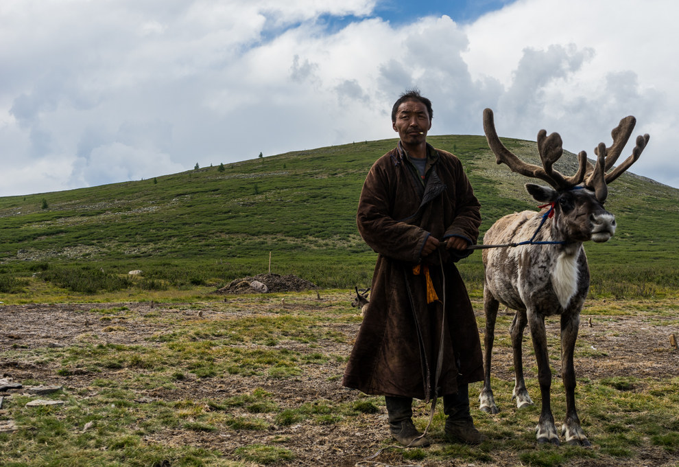 Magsar, the Dukha reindeer herder, has absolutely no chill.