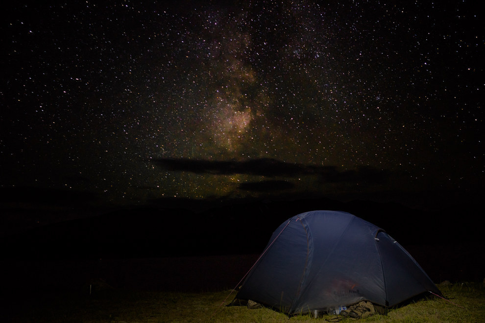 And when you camp under the Milky Way, the stars are so bright that they'll definitely keep you up all night. #Fail.