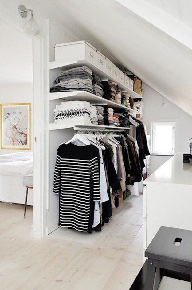 Separate Your Room To Create A Walk In Closet. Sooo Much Closet Envy.