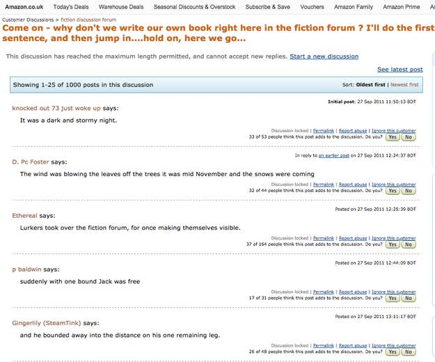 People Have Been Writing This Story On An Amazon Forum For