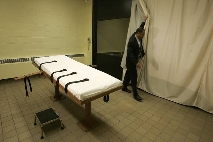 Ohio's previous death chamber at the Southern Ohio Correctional Facility.