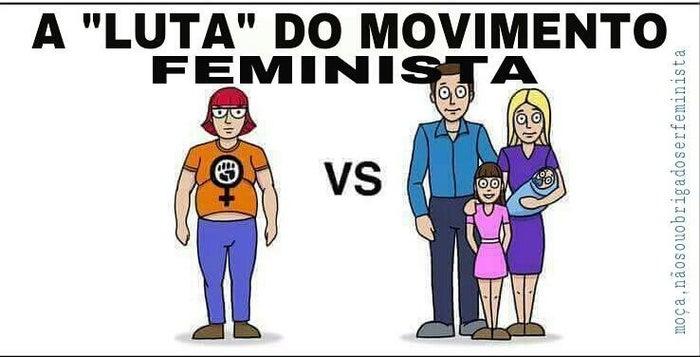 Nem todas as feministas são gordas. Muitas feministas têm família. (E nem todas as feministas usam óculos).