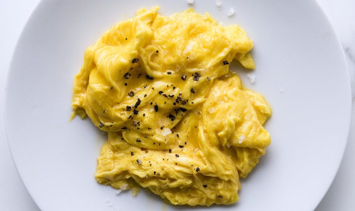 Ain't gonna be no toast for your mediocre eggs to hide behind, so make sure you whip them before you cook, and don't turn the heat up too high.Here's how to make the best soft-scrambled eggs.