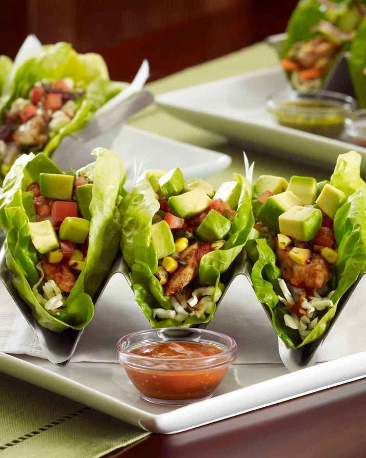 This recipe is actually straight from The Cheesecake Factory, and it'll please even the pickiest of taco lovers. Recipe: Mediterranean Chicken Lettuce Wrap Tacos