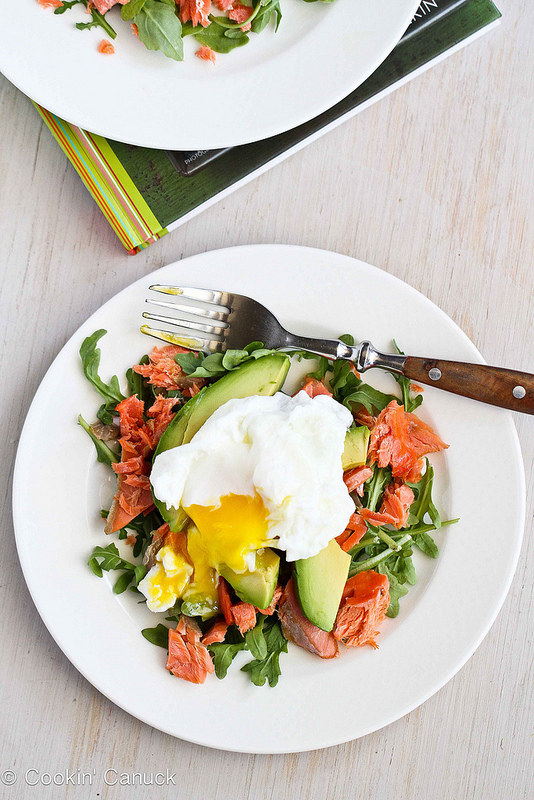 Poached Eggs over Avocado and Smoked Salmon