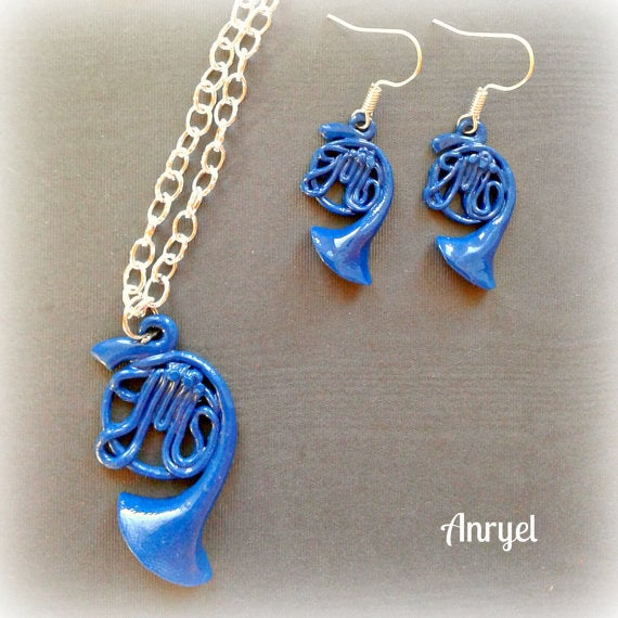 """Robin might have the blue french horn from """"Carmichaels,"""" but you can wear a cute and stylish mini versions of it. Get it here."""