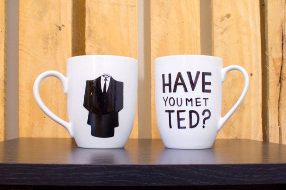 Complete with a handsome silhouette of the wingman, Barney Stinson. Get it here.