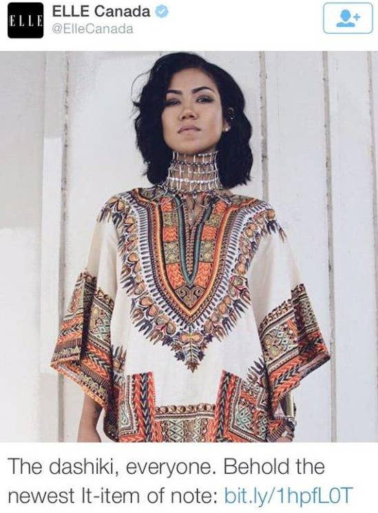 A Canadian Fashion Magazine Is In Hot Water After Declaring That Dashikis Traditional West African Clothing Item Are The Newest It Of Note