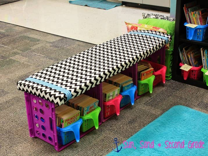 35 cheap and ingenious ways to have the best classroom ever or a diy crate bench solutioingenieria Image collections