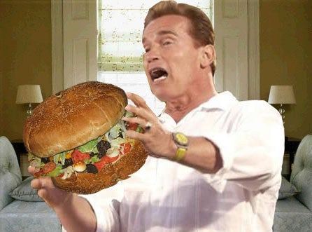 Yes! Your best mate's cousin's sister was totally right when telling you that the hamburgers in America are literally the size of your head.