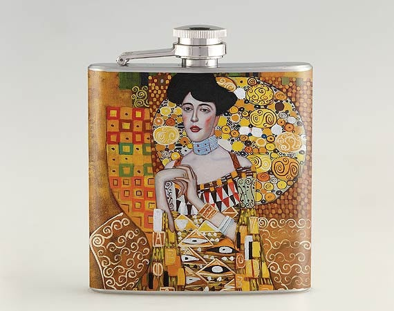 Who knows when you'll need a Gustav Klimt inspired flask...but you'll definitely need it!