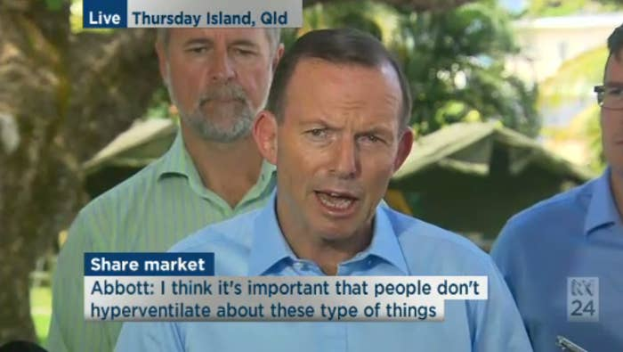 Tony Abbott Says The ABC Is