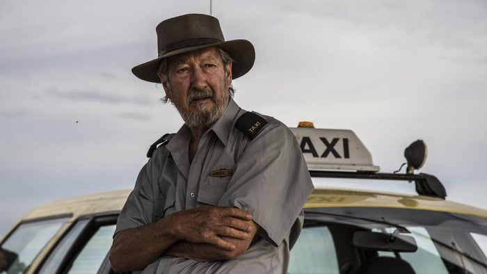 What's it about: Michael Caton stars as Rex, a cab driver from Broken Hill who, when told he doesn't have much longer to live, sets out on the epic journey to Darwin in a bid to die on his own terms. Along the way he discovers that before you can end your life you have to live it. And to live it, you have to share it. Also starring Jacki Weaver, Emma Hamilton, Mark Coles Smith, Ningali Lawford-Wolf, John Howard, Alan Dukes, David Field and Leah Purcell.When can you see it: In cinemas now.Watch the trailer here.