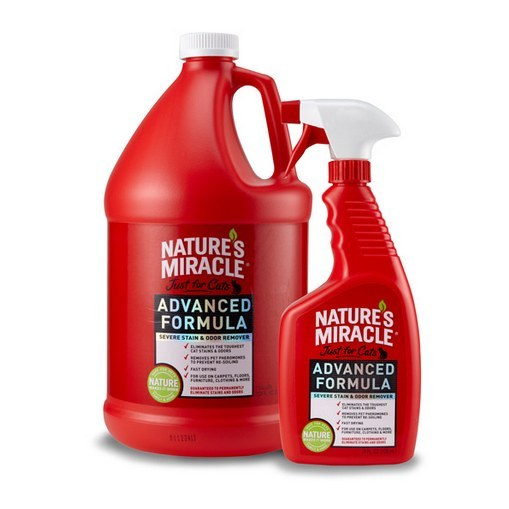 NATURE'S MIRACLE. It gets rid of cat-pee stains and odors that are otherwise indestructible.