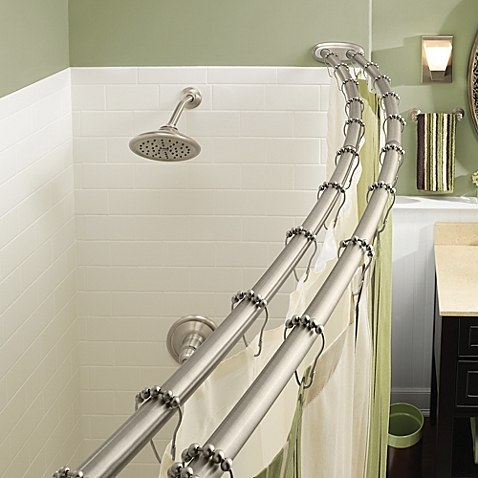 Store towels on a second shower curtain rod.