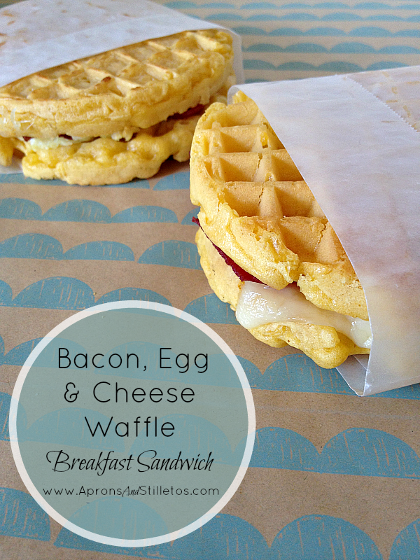 Both the bacon and eggs bake in the oven — so that you can tend to OTHER things (see: kids who won't get out of bed) while everything cooks. Pre-made waffles make things even easier. Get the instructions.